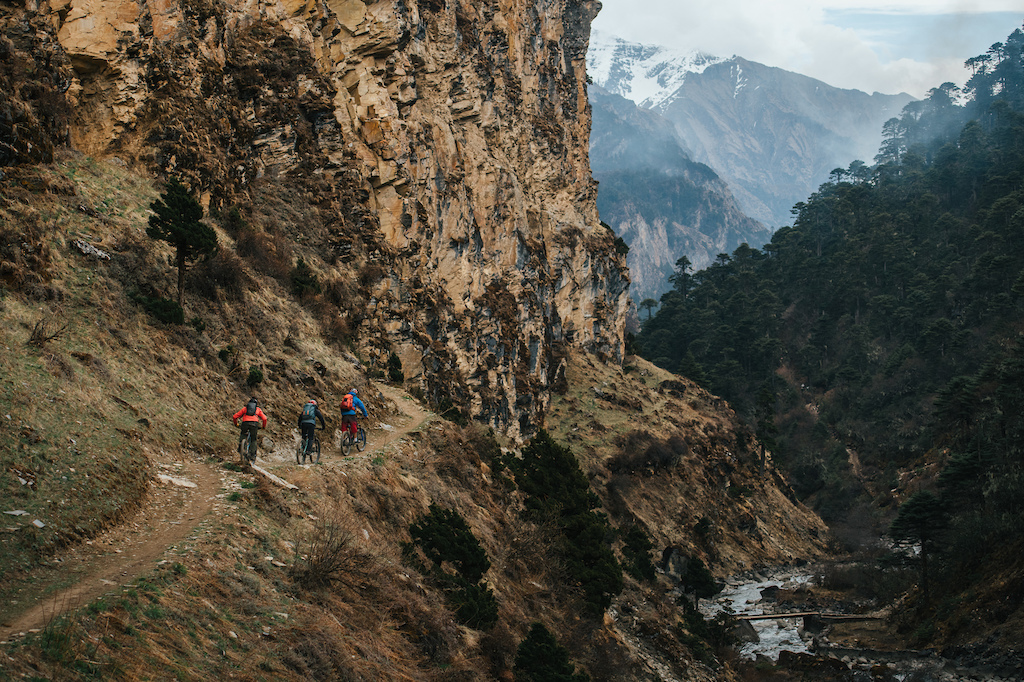 Chasing The Yeti is a full length mountain bike film starring Darren Berrecloth Cam McCaul and Casey Brown. They travel deep into the Himalayan Mountains on an epic search for the Yeti and ultimately adventure where nobody has ridden bikes before. Photo credit Margus Riga