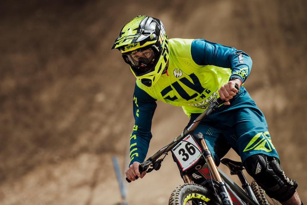 Edward Masters performs at UCI DH World Cup in Maribor, Slovenia on April 28th, 2019 // Bartek Wolinski/Red Bull Content Pool // AP-1Z62AF4TW2511 // Usage for editorial use only //