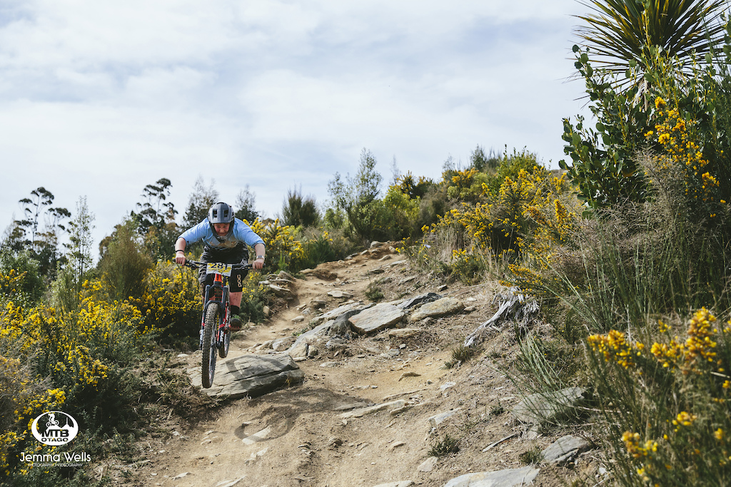 Jake Remon takes on the lower reaches of the Ginger Cougar trail on Signal Hill.
