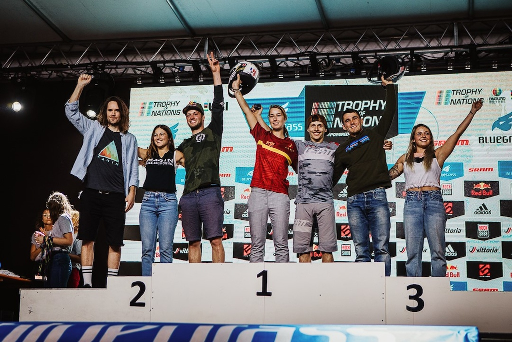 Marin rpodiums at the Trophy of Nations - Industry race