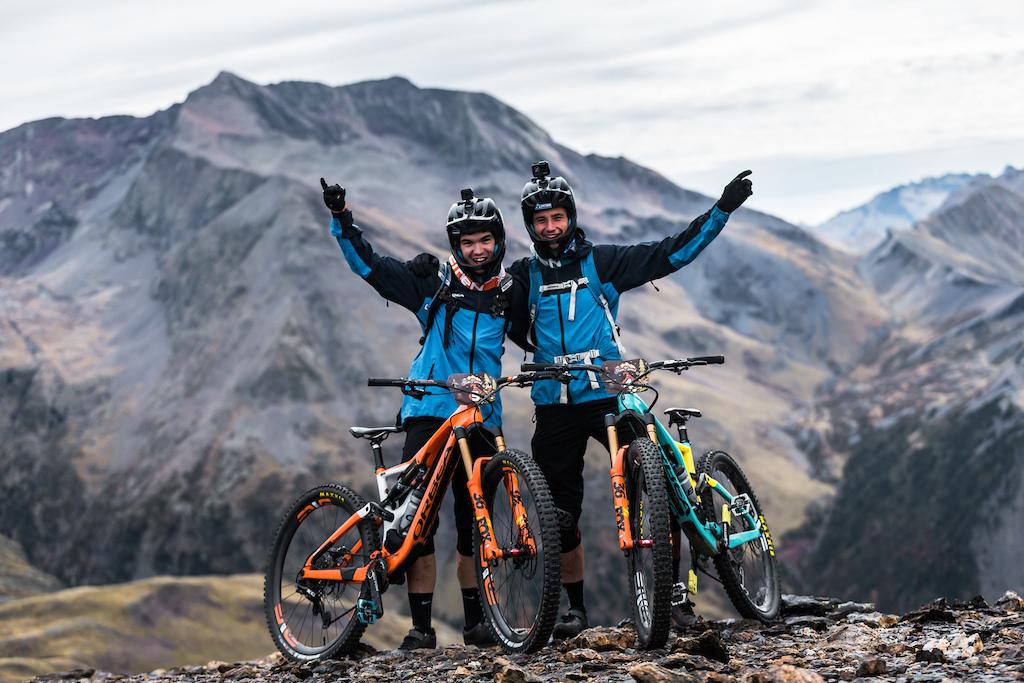 The Orbea Enduro Team Vid Persak and Gabriel Torralba. Photo by Juanjo Otazu de indomitvisual