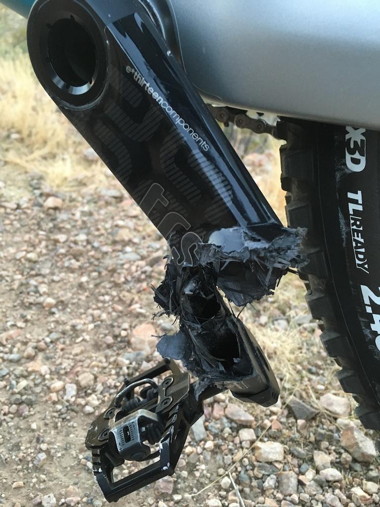 TRSr Carbon crank catastrophic failure.