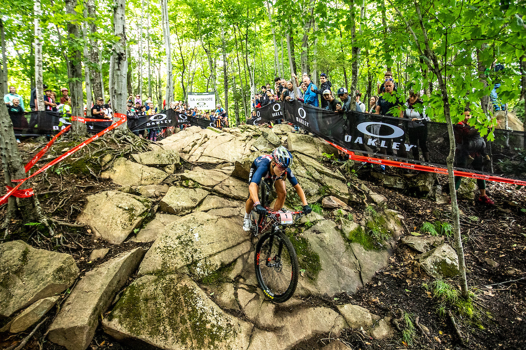 During the 2019 UCI MTB World Championships at Mont-Sainte-Anne Canada.