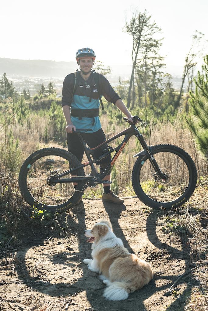 Jamie Garrod of New Zealand Mountain Biking with his pre-production Katipo