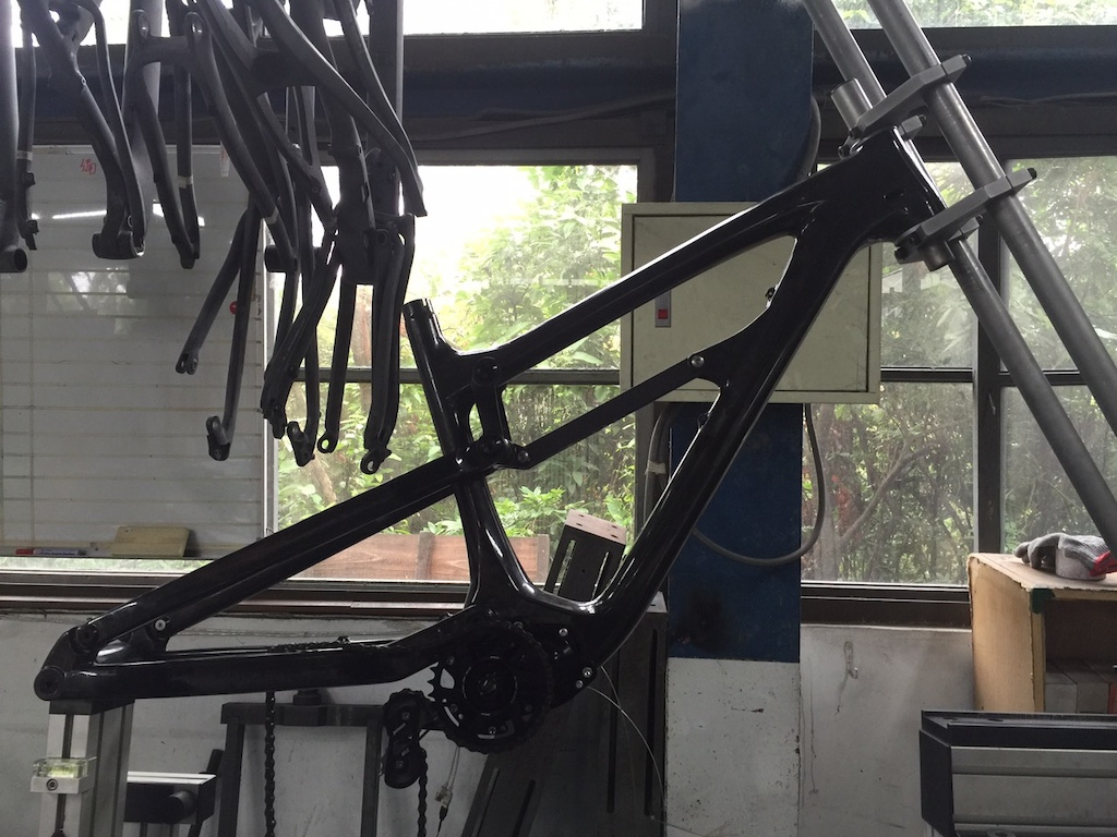 Frame undergoing factory testing