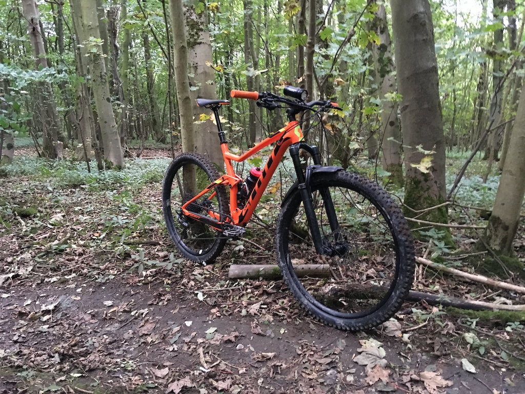 Scott Spark 960 with upgraded wheels, forks and brakes.