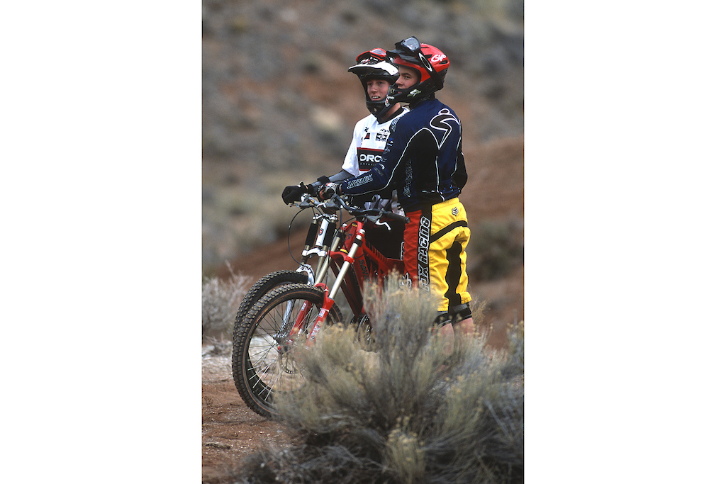 Jordie Lunn and Jesse Roberts 2000 in Utah for the filming of Ride to the Hills