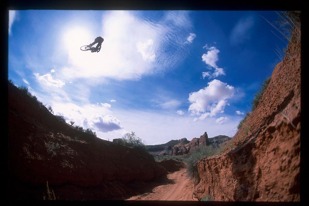 Jordie Lunn in Moab, Utah while filming for Roam in 2006