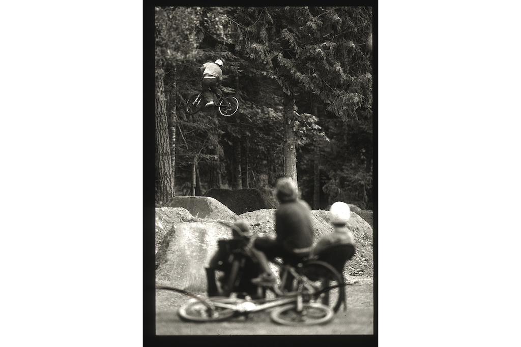 Jordie Lunn in his dad's backyard, with Cam McCaul, Jarrett Lunn, Darren Berrecloth and Ryder Kasprick in Parksville, BC, while filming for Roam in 2006