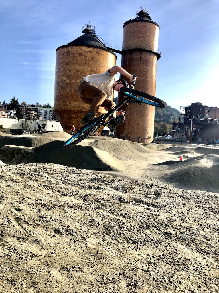 Bellingham waterfront pumptrack is pretty legit