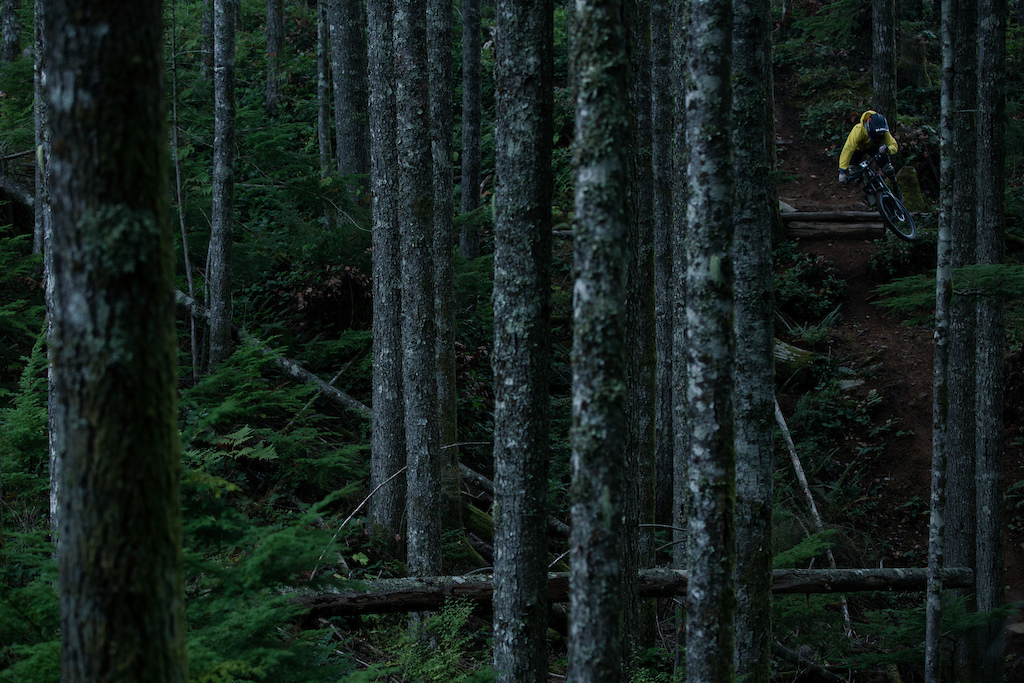 Mark Matthews riding on Vancouver Island for his video Rainy Daze with PNW Components. Photo by Brett Kroeker