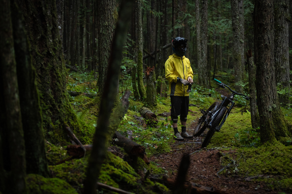 Mark Matthews while filming for Rainy Daze with PNW Components.