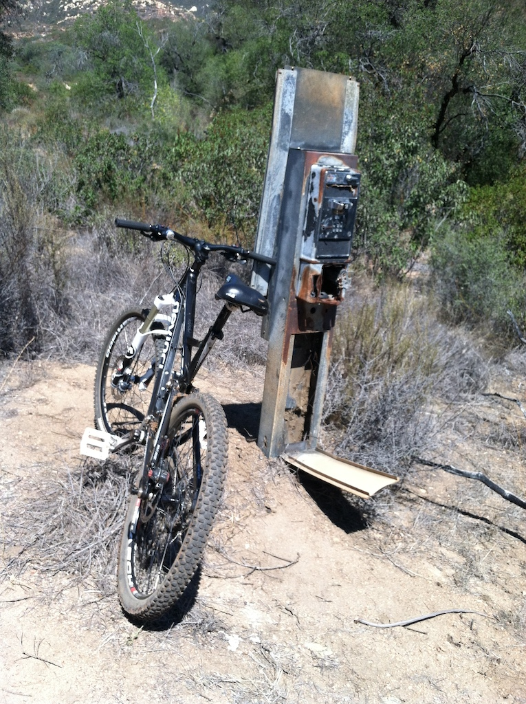 Old pay phone on trail.