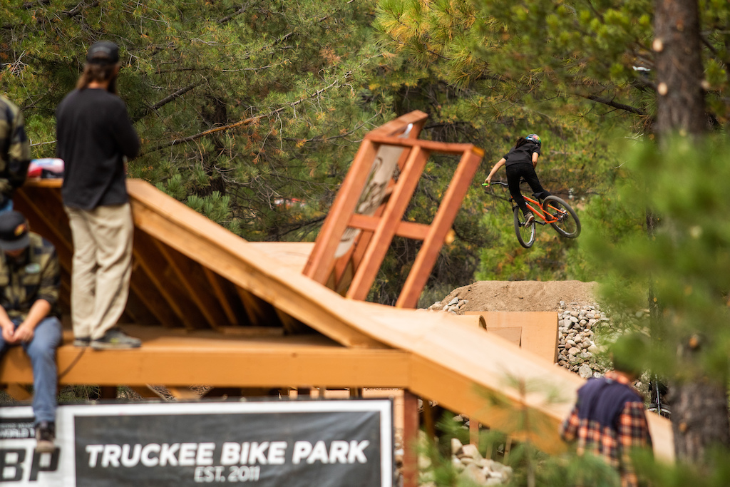 This photograph is only for the use of Truckee Bike Park the FMB and other Little Big Bike Festival related media. All other 3rd party distriution must consult the photographer Josh Woodward before use.