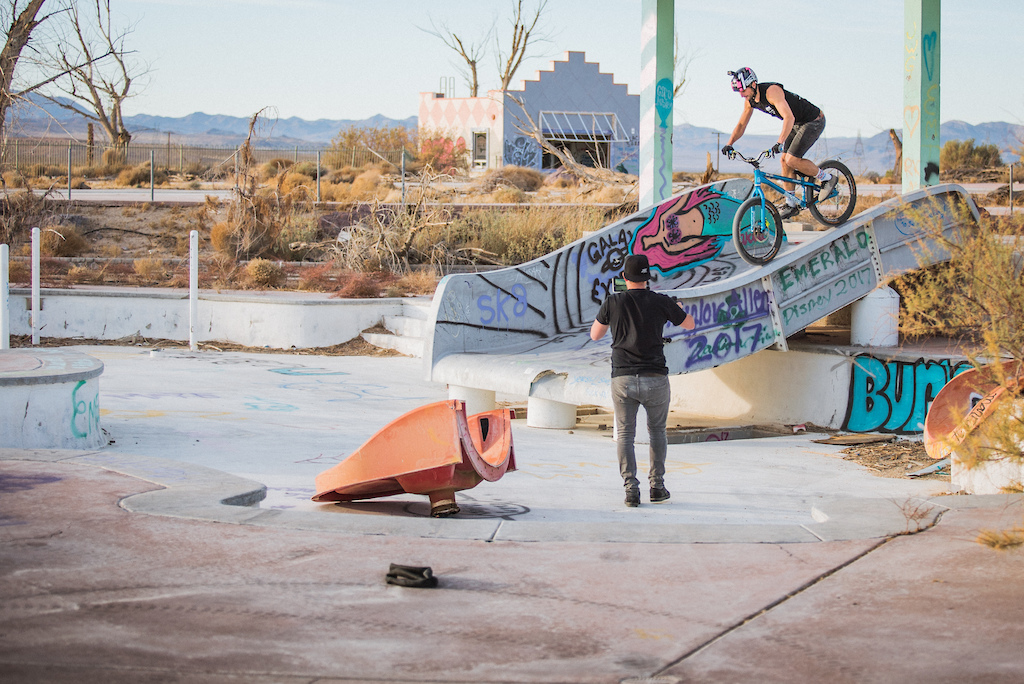 Duncan Shaw rides the Abandoned Lake Dolores Waterpark