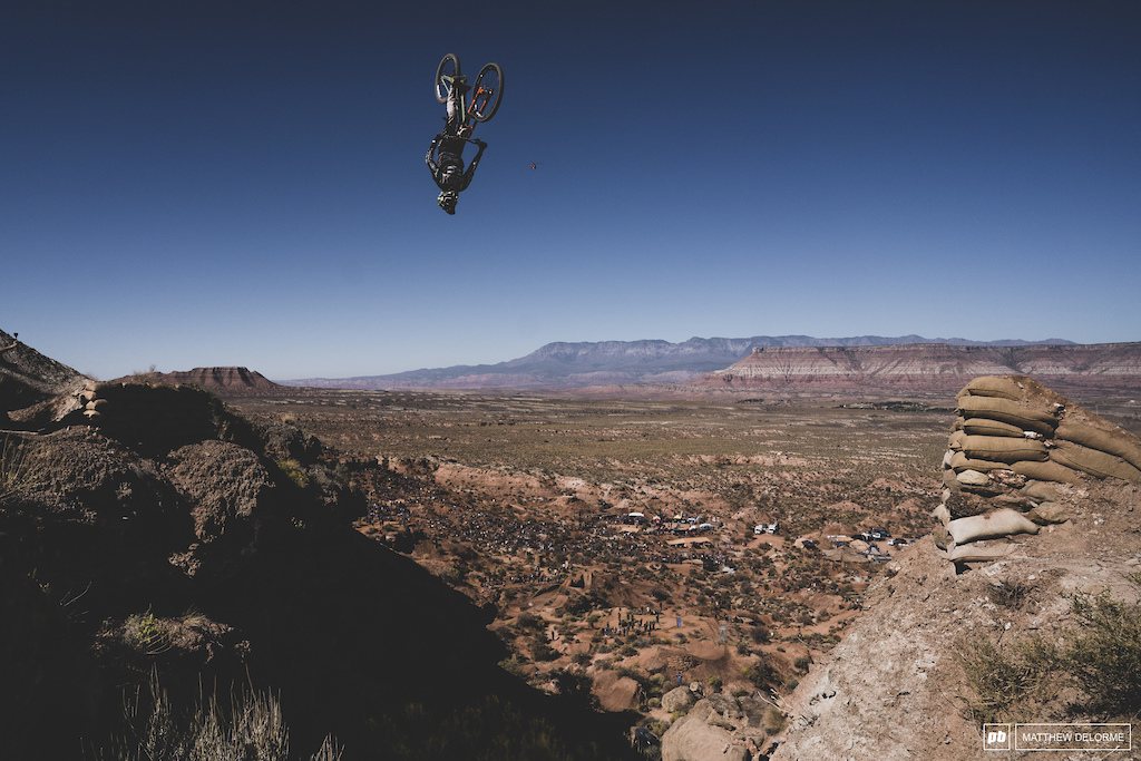Brendog backflips his canyon gap on his way to fourth place.