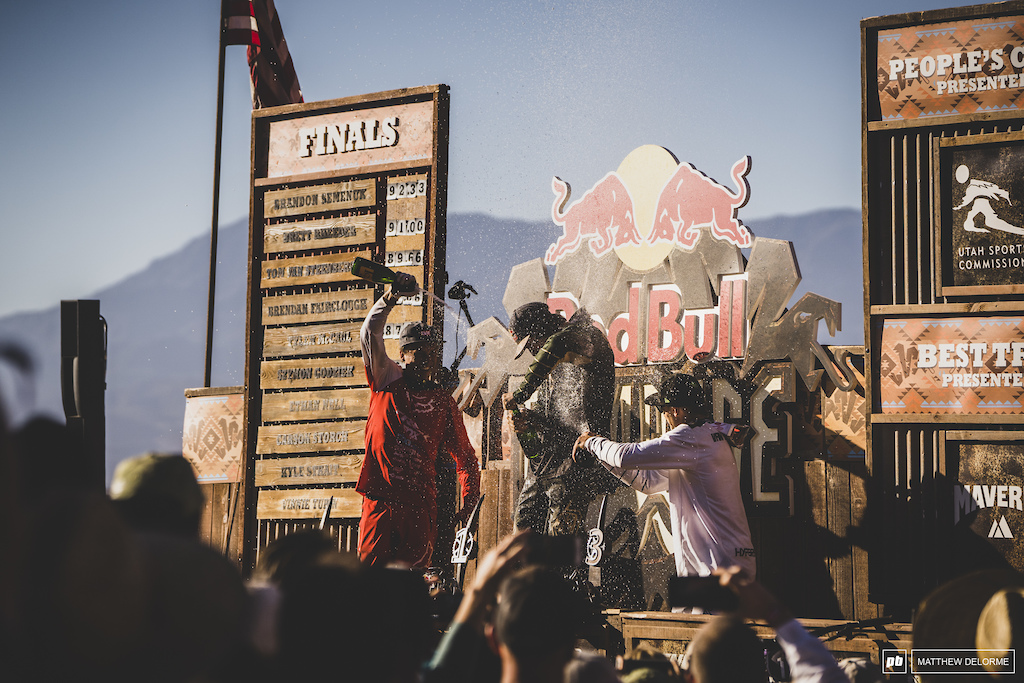 Semenuk Rheeder and TVS Take the podium and Rampage 2019.