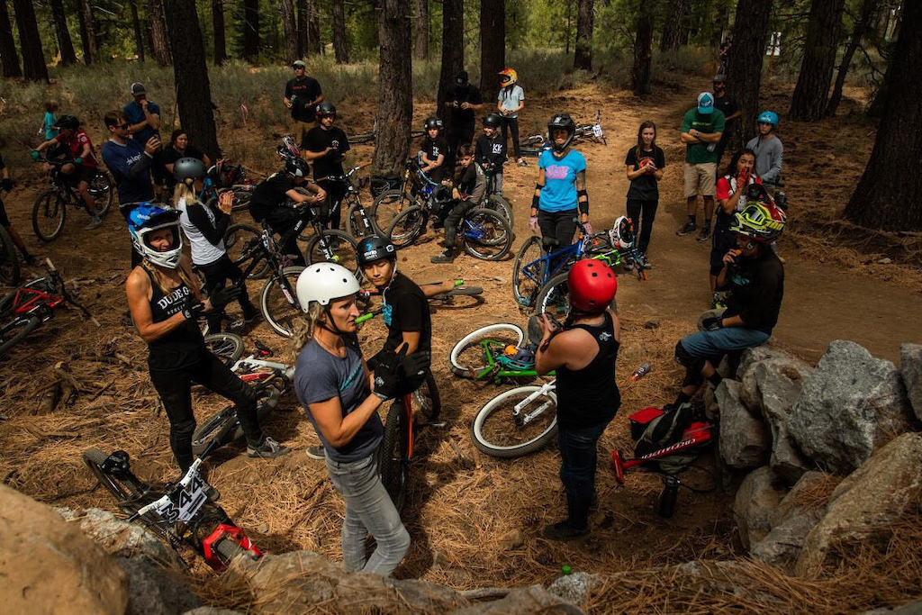 Little Big Starting Line Up at the Truckee Bike Park PC coffeehousemedia Josh Woodward