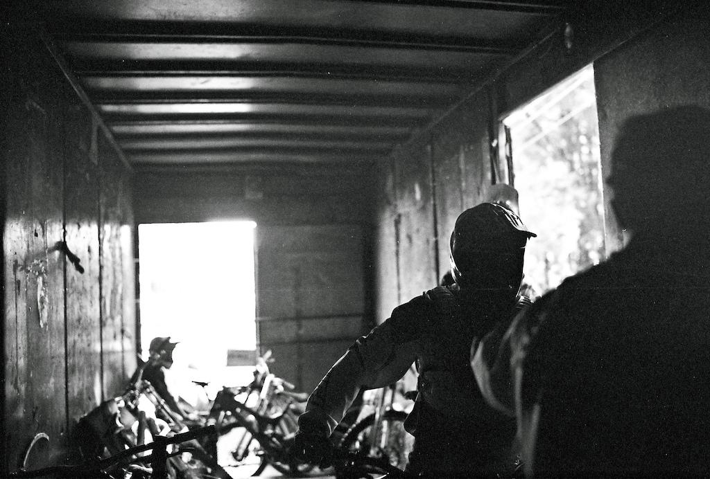 Bike and riders shuttle