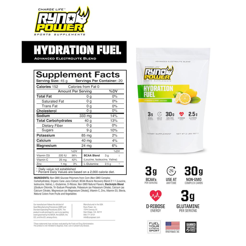 Lemon Lime Hydration Fuel FACTS
