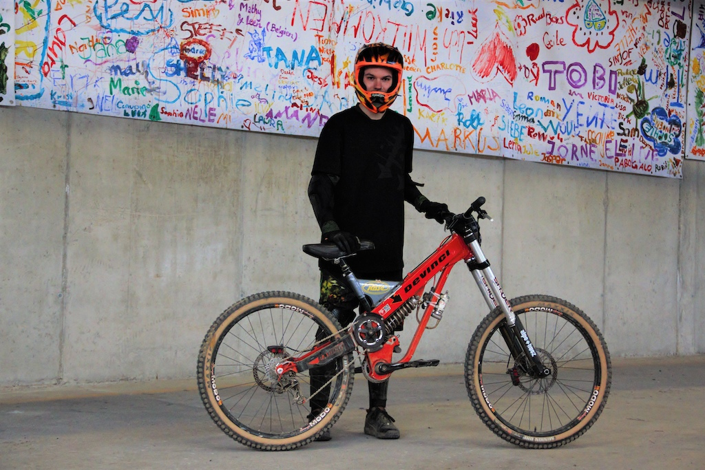 Took a girl for a spin Devinci Big Bang with Marzocchi Shivers.