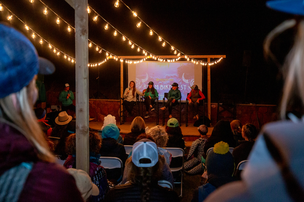 Roam Fest Sedona 2019 SHREDTalks Influencer Panel featuring L-R Vaea Verbeeck Anneke Beerten Anne Keller Jen Zeuner