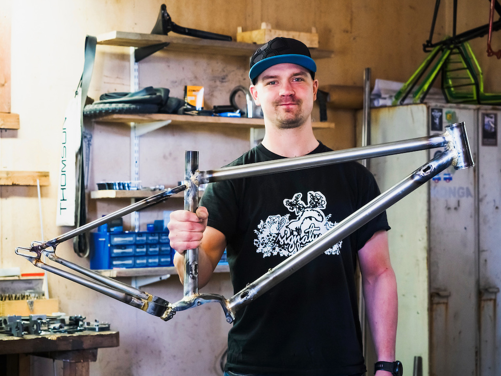 Happy builder with a almost finished frame