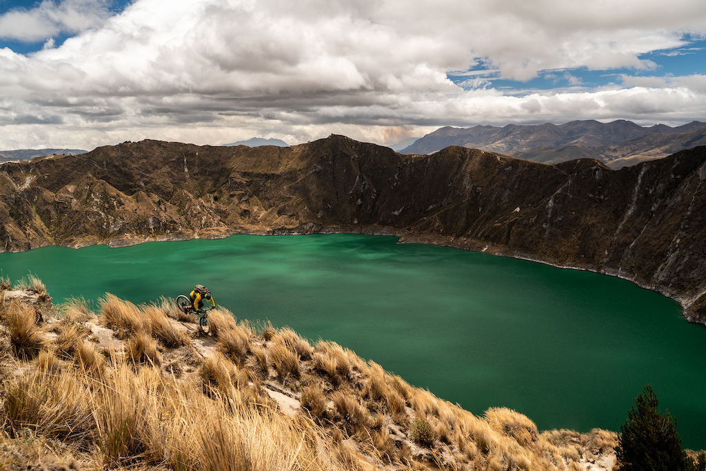 A part of the Quilotoa crater lake-trek Ecuador. StantonBikesUK differentdaydifferentway