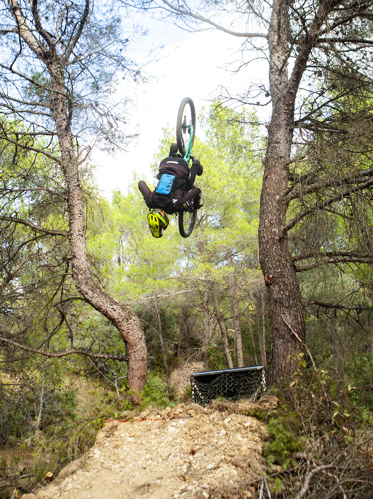 Other view Backflip between two trees