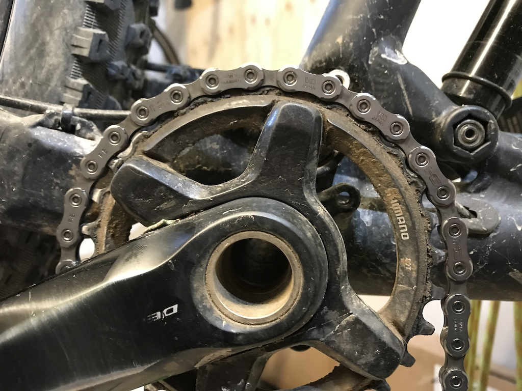 Shimano 12sp chain doesn t fit Shimano 11sp chain ring.