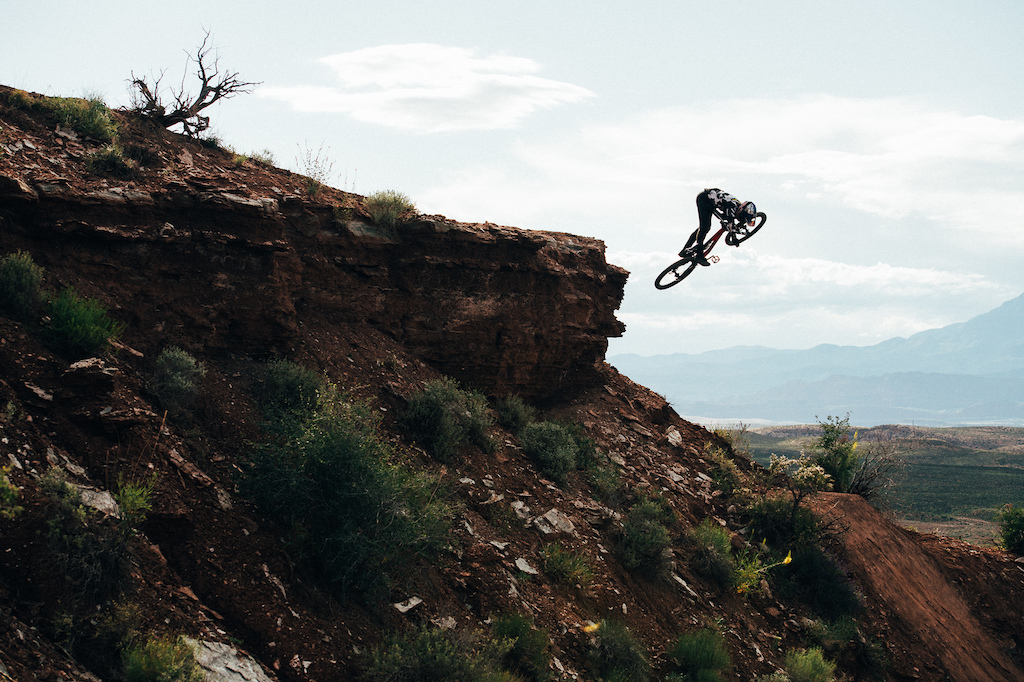 Carson Storch riding in Virgin Utah Photo by Margus Riga