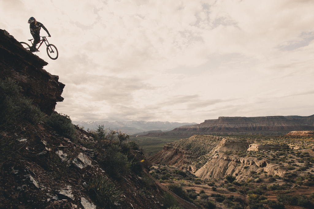 Carson Storch riding in Virgin Utah Photo Margus Riga