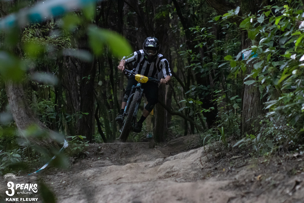 Local lad Josh McCombie launching into an off chamber section of the OC Track