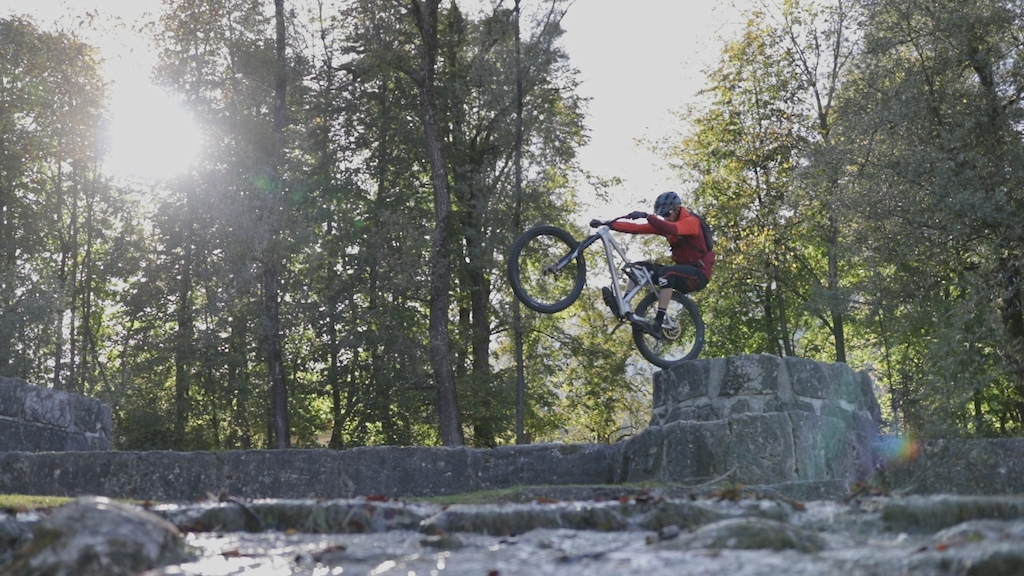 Some trials riding on the enduro Martin Geier