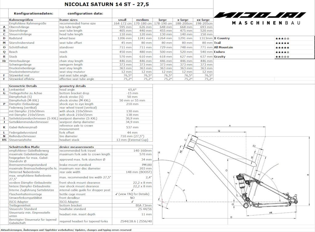 Nicolai Saturn 14 ST Geometry 27.5