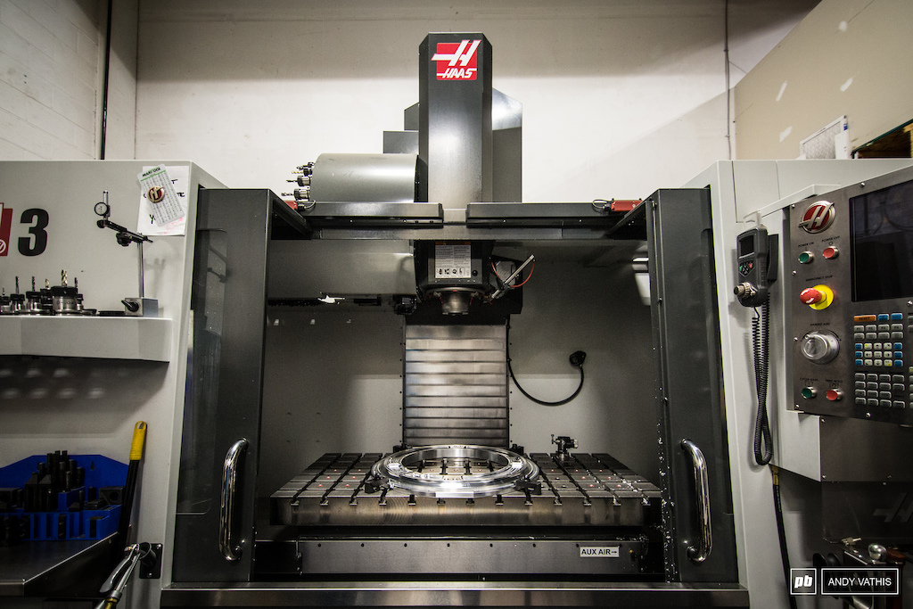 The CNC machine. Every mold gets cut through this and every stem is made by it.
