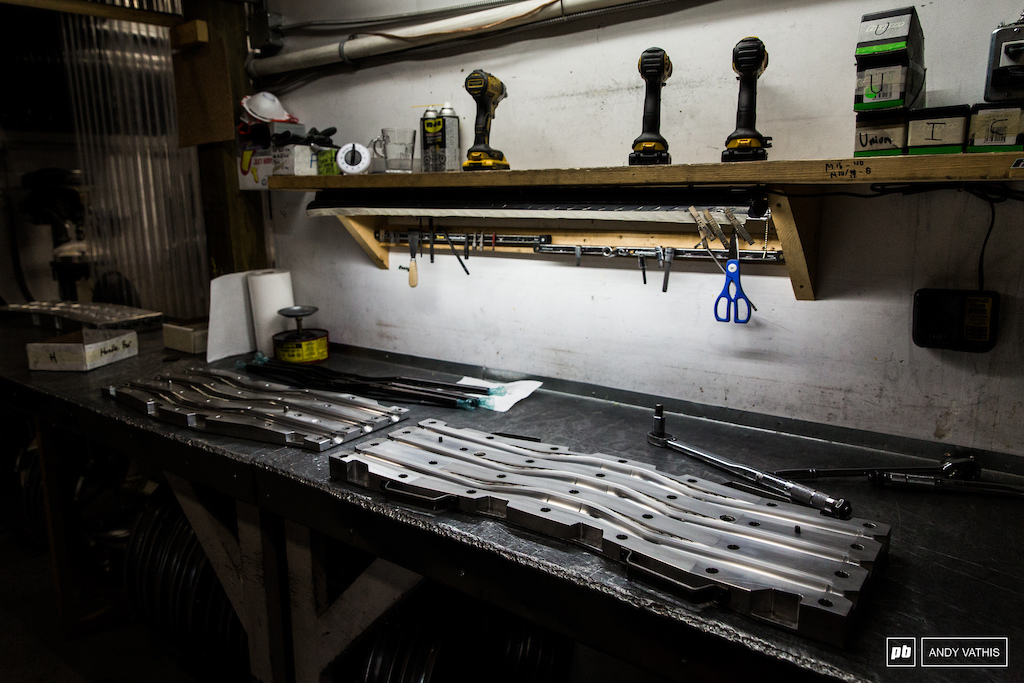 Molds for the Da Bar handlebar.
