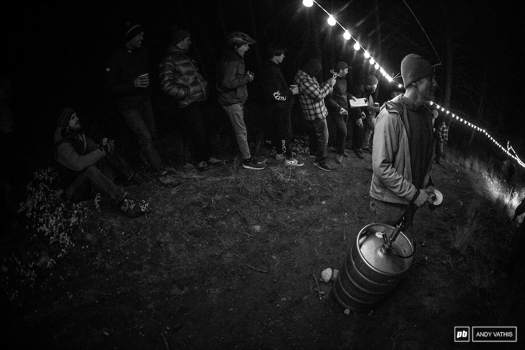 The first annual We Are One Weekend wouldn't be complete without a keg in the middle of the hill climb event. They party as hard as the work out there.