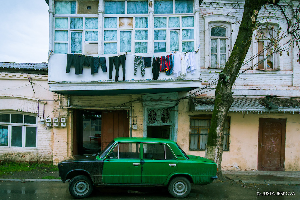 The humble Lada at home in Quba.