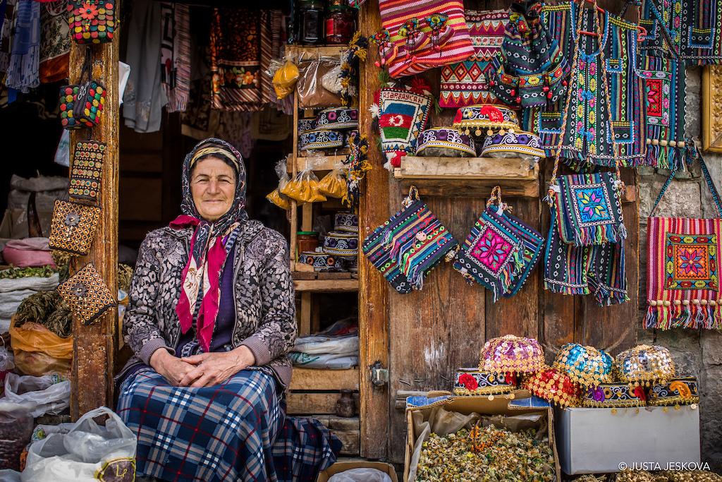 Tea spices and handmade goods in Azerbaijan s copper capital.