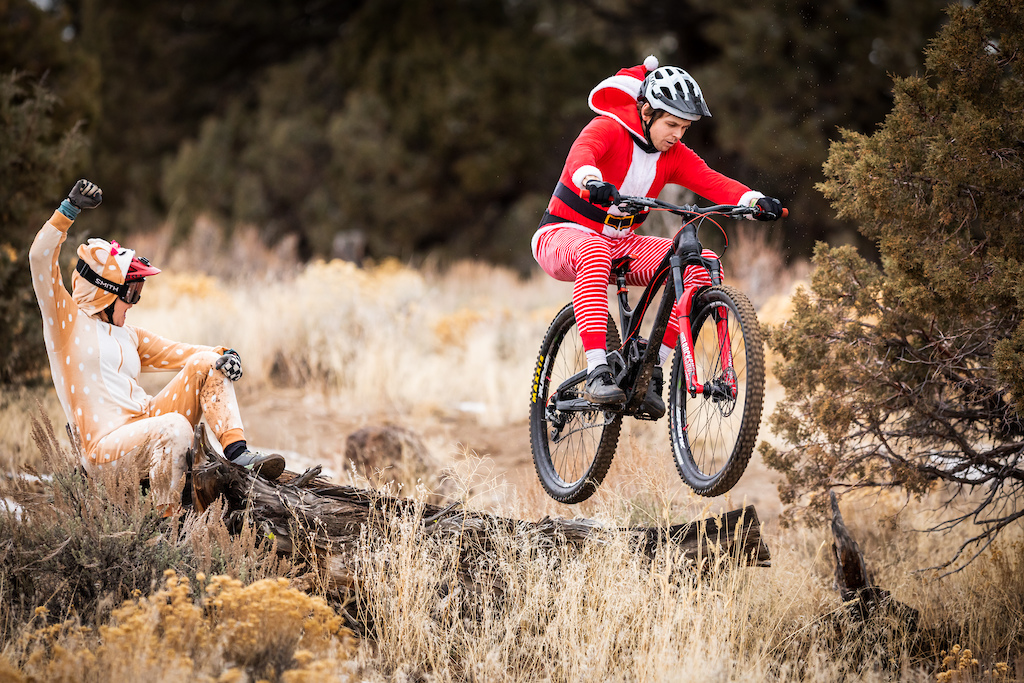 When not leading the pack the reindeer make great cheerleaders.