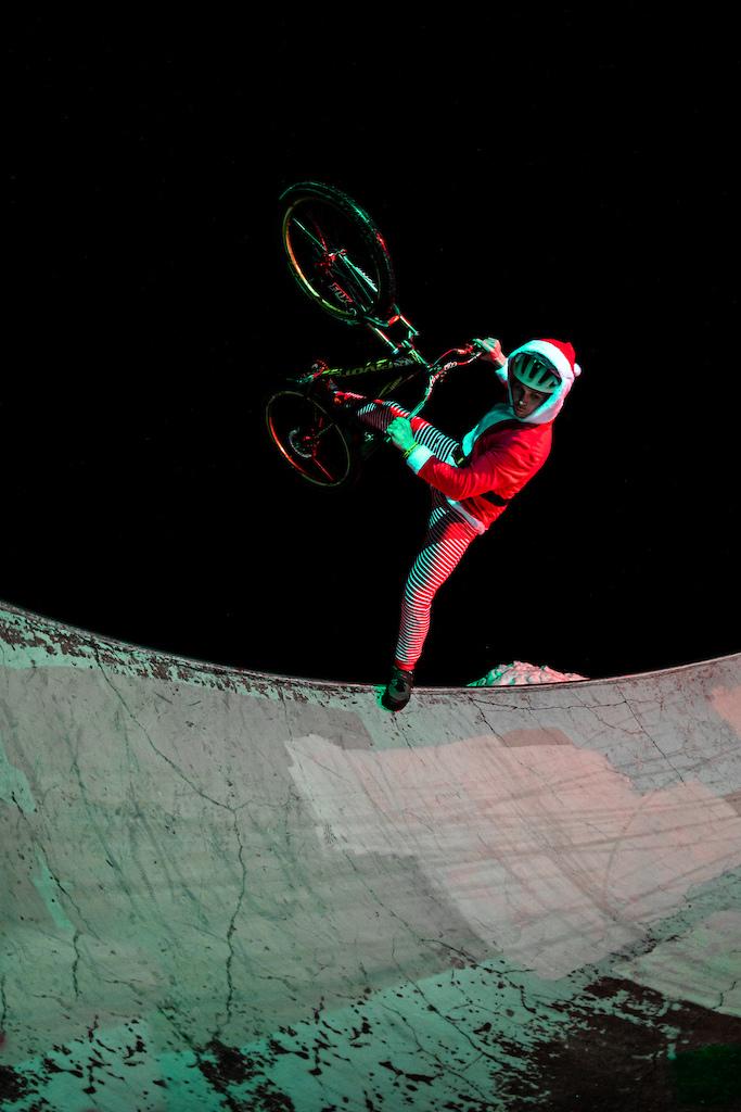 Santa needs to keep limber.