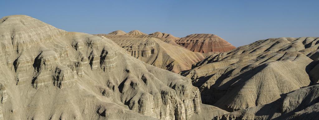 Strange forms of Aktau massif