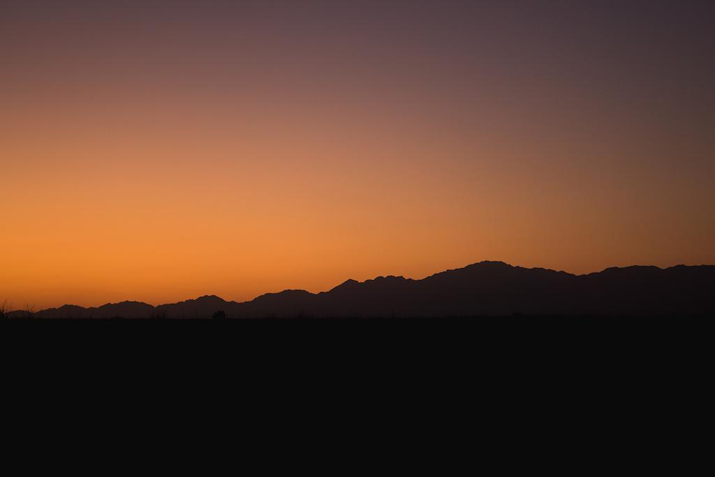 Sunset at Altyn-Emel national park