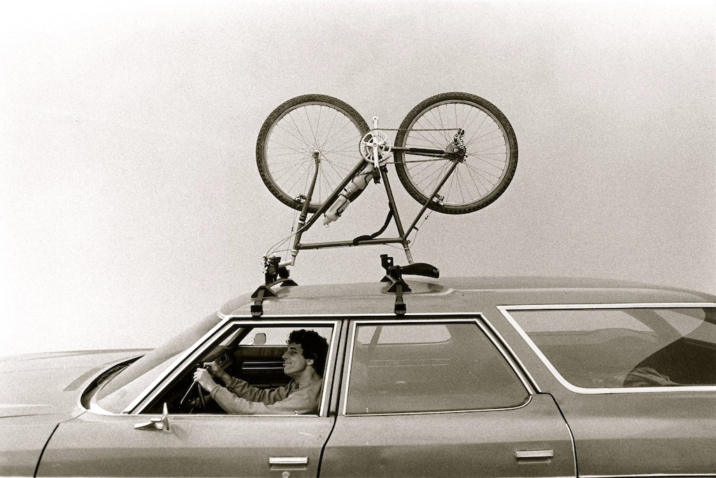 Dean Bradley produced the first issue of Mountain Bike Action magazine. This was one of his images published in the pages. Ranchita Verde was the Mantis delivery vehicle - A stately Chevrolet Impala wagon that got 10 MPG on a good day.
