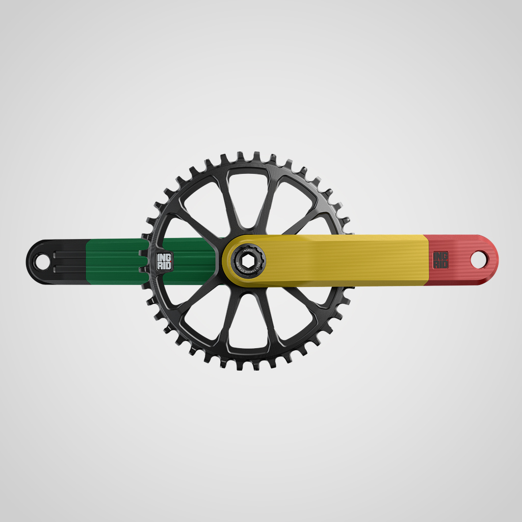 Ingrid Rasta coloured cranks