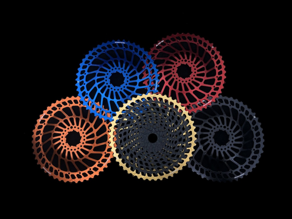 Leonardi cassette and biggest cog colour options