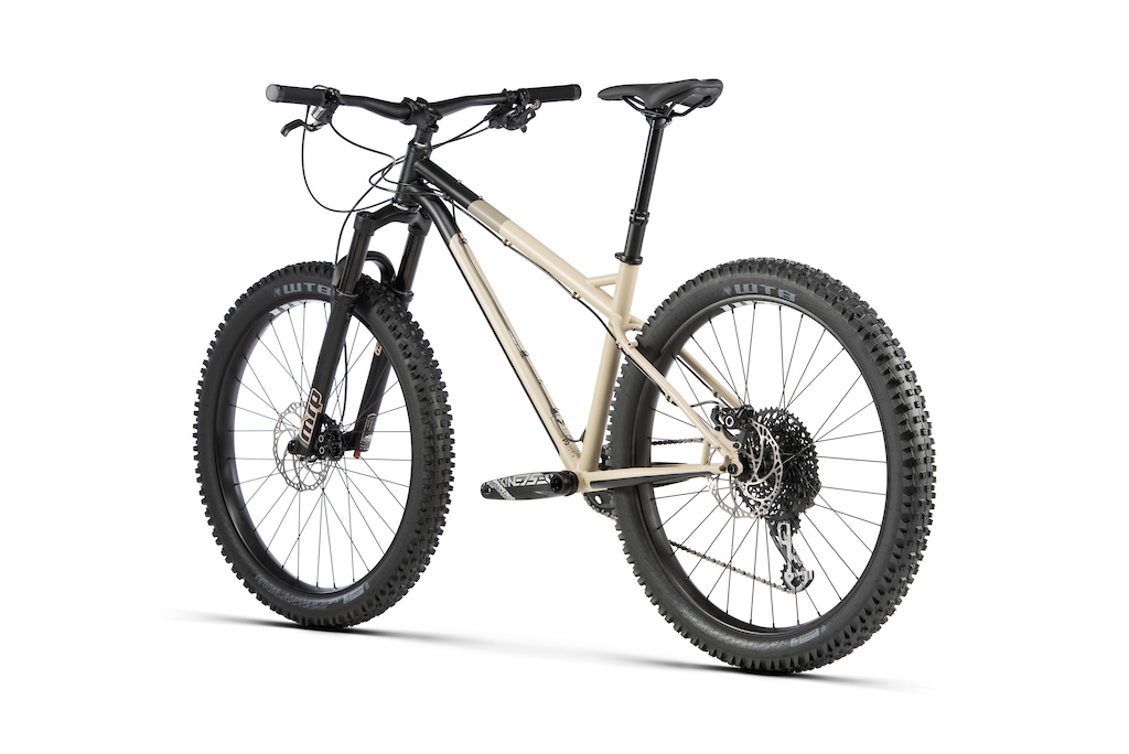 The CALE comes with a contemporary trail geometry featuring a long reach and moderate stack mean it is easy on the long-haul, yet fun when the terrain kicks off. Using experience gained building our Beyond+ models, it's a vehicle for exploring the most technical routes. An MRP Ribbon suspension fork stops the bike getting thrown about to increase control, a quality furthered by its huge 800mm wide bars. With the ability to slam the saddle out of the way courtesy of the KS E30i dropper seatpost, ultra-wide WTB Vigilante TCS tyres and a mountain-shrinking 10-50t cassette make this all the bike most riders will ever need.  Of course, the CALE wouldn't be a Bombtrack if it wasn't ready for adventure too. Triple cage mounts plus the ability to fit a rear rack mean it's possible to ride into remote locations, drop the bags, and have some fun exploring new trails