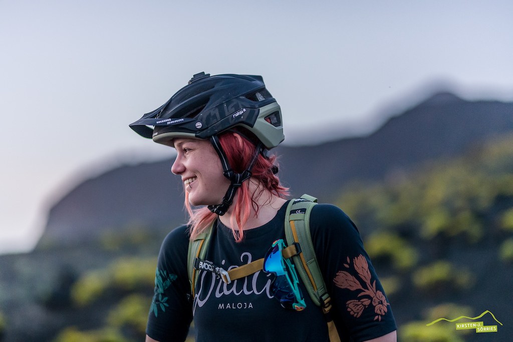 Angie Hohenwarter is a former Downhill Racer and she just loves pinning a good trail down the mountains.