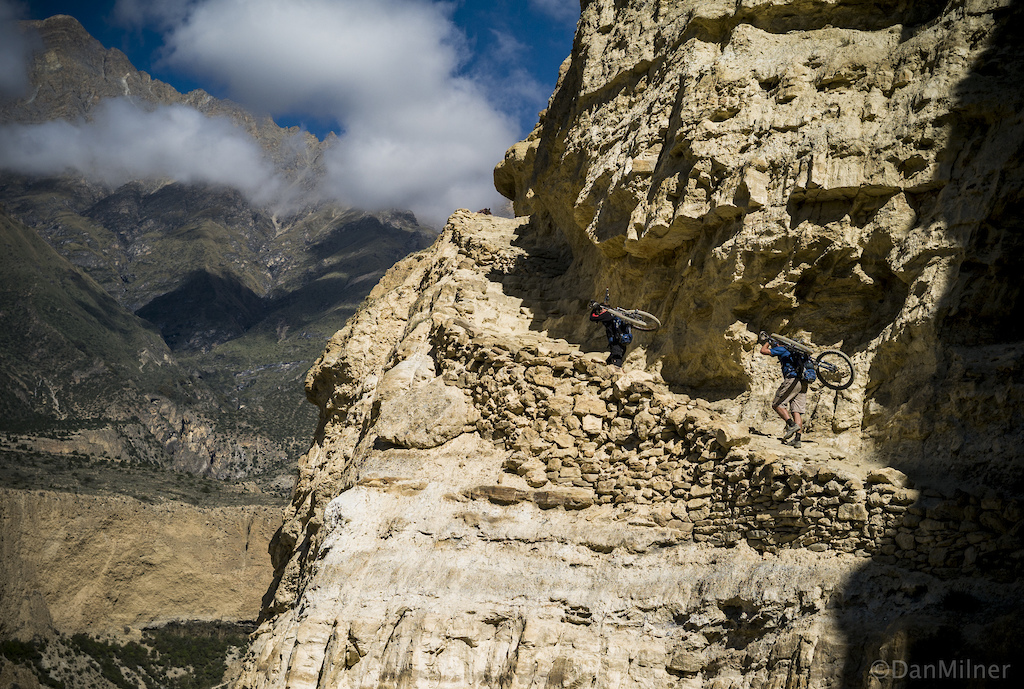 Rob and Seb during a 10-day traverse of the Upper Mustang.